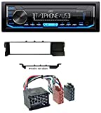 caraudio24 JVC KD-X351BT Aux USB Bluetooth MP3 Autoradio für BMW 3er E46 (Profiversion Rundpin)