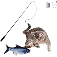 SOBW Flippity Fish - elektrisches Katzenspielzeug - Katzenminze - wiederaufladbar mit USB Kabel - Verschiedene…