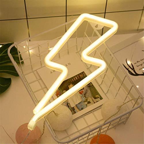 wyxhkj Neon Lightning Indoor Dekor LED leuchtet helle weiße Kunststoff-Liebe Batterie USB-Dual-Use-Modelle (A) -