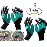 Garten Handschuhe 2 Paar (Linke und Rechte mit Klauen klein/mittelgroß - Größe 6-7.5'), Eiito...