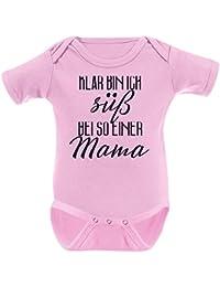Mikalino Babybody Klar bin ich süß - bei so einer Mama kurzarm