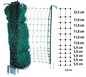 gartenzaun gr ner elektrifizierbarer 25 meter lang 112 cm hoch steckzaun kleinmaschig 6x6cm nkl. Black Bedroom Furniture Sets. Home Design Ideas