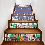 DIY De Noël Autocollant D'escalier Autocollant - Christmas Dress Up Stairs Stickers Christmas Town