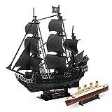 CubicFun T4018H–3D Puzzle Queen Anne 's Revenge, Edition Riesen, 308Stück