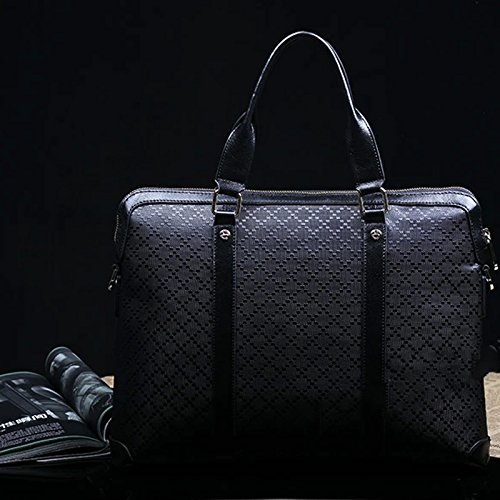 Mefly Die Erste Schicht Aus Leder Handtasche Boutique Business Casual Bag Crossbody-Tasche black