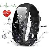 Fitness Armband mit Herzfrequenz, Navtour Fitness Tracker Bluetooth 4,0, Wasserdicht IP67 Sport Armbanduhr, Schlaf-Monitor, Aktivitätstracker, Schrittzähler, GPS, für ios und Android