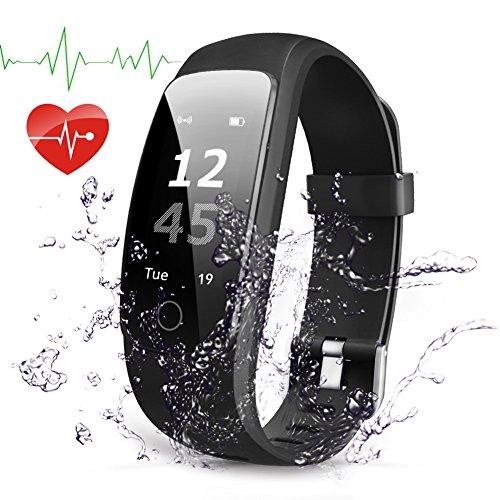 Herzfrequenz, Navtour Fitness Tracker Bluetooth 4,0, Wasserdicht IP67 Sport Armbanduhr, Schlaf-Monitor, Aktivitätstracker, Schrittzähler, GPS, für ios und Android ()