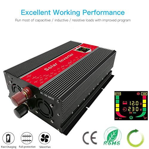CHAOMIN modifiziert Sinus Powe Inverter Wechselrichter Konverter 3000W DC 12V auf AC 220V 230V 240V Digital LCD Display für Zuhause Auto