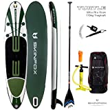 SKINFOX TESTSIEGER Turtle Carbon-Set Weiss-Grün (Board,Bag,Pumpe+Carbon+Leash)