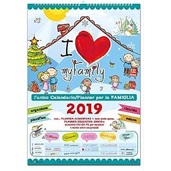 0026 Tallon 2019 Famiglia Organizer con pioli e portapenne Calendario verde