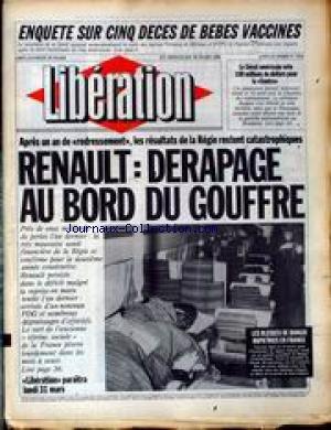 LIBERATION [No 1512] du 29/03/1986 - ENQUETE SUR CINQ DECES