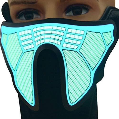 (GEZICHTA Light Up Maske–NEUE Gesicht Maske Stimme Control Light Up Flashing Luminous für Halloween Party Kostüm Dekoration winddicht Radfahren Maske Ski Maske, fg-ma-03)