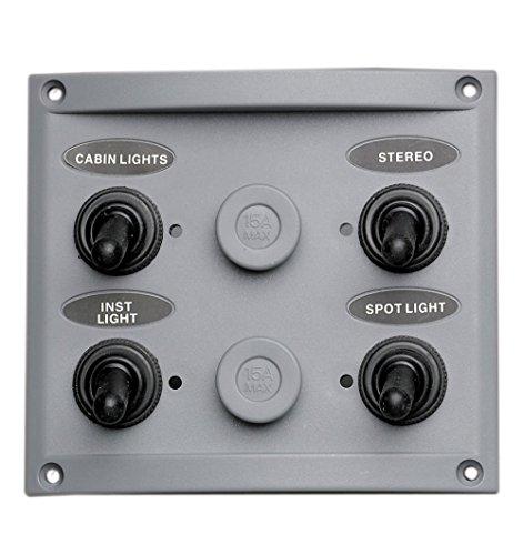 pactrade Marine Boot 4Gang Splash Proof Schalter Panel mit LED-Kontrollleuchte -