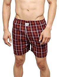 NeskaModa Men's Premium Elasticated Cotton Maroon Boxer With 1 Back Pocket-XB85