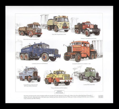 Heavy im Trucks-Foden, Diamant, Scammell, Thornycroft (Automobilhersteller)-Kunstdruck -