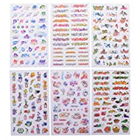 HonXins 6 Sheets Kawaii Cat Floral Stickers Planner Scrapbooking Stickers for DIY Diary, Album Decoration