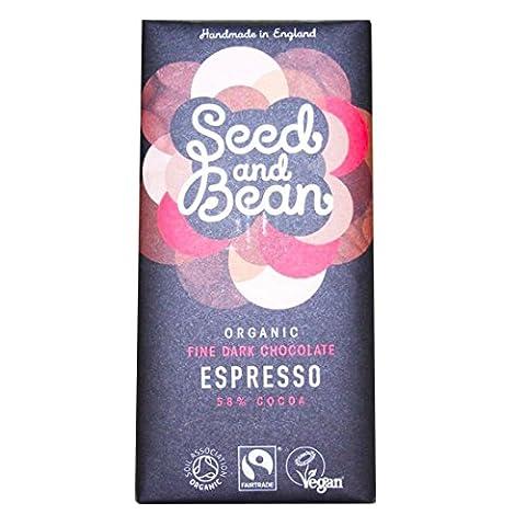 Organic Seed & Bean Company | 58% Dark Choc & Espresso | 8 x 85g