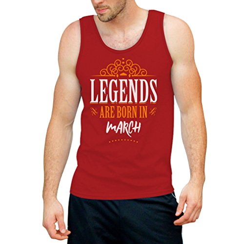 Legends are born in März - Geschenke Tank Top Rot