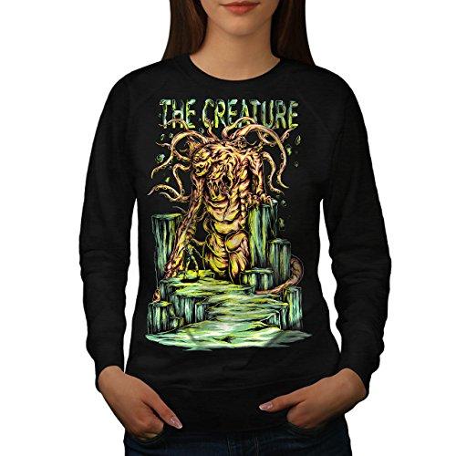 Kreatur Monster Horror Damen S Sweatshirt | - Halloween-burger Monster