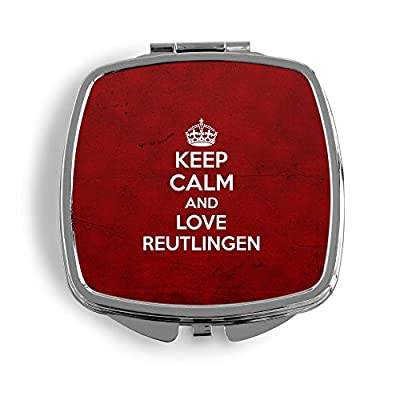 Keep Calm And Love Reutlingen Metall Taschenspiegel Kosmetik Beauty Spiegel Klappbar Bedruckt Deutschland Stadt City Design