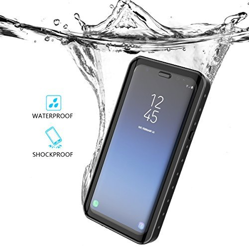 Samsung Galaxy S9 Waserdicht Hülle, Happon IP68 Stoßfest Stubdichtes Snowproof Handyhülle Kratzfestes Gehäuse Outdoor Handy Schutzhülle Unterwasser Cover Tasche Case für Samsung Galaxy S9 (Schwarz)