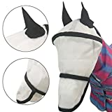 BZLine Pferde Maske schützen Ohren Nase Sonnenschutz Stile verhindern Fliegen und Bugs (Weiß)