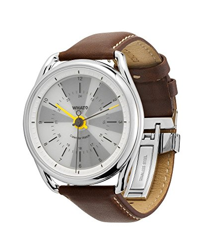 What? Perpetual Calendar Watch: Hybrid Digital Analog Smart Watch Syncs with iPhone and Android – 2.7-oz Stainless Steel Body – 165-Ft Waterproof – Up to 8-Week Battery Life – 1-Year Warranty
