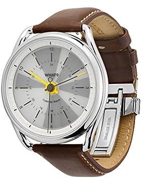 What? Perpetual Kalender Uhr: Hybrid Digital Analog Smart Watch Syncs mit iPhone und Android | bis 50m Wasserdicht...