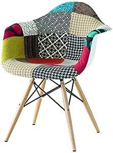 Fashion Commerce Daw Patchwork Poltroncina, Cotone/Polipropilene, Multicolore, 61x59x80 cm