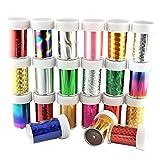 Contever® 30 Rotoli Transfer Adesivi e Decalcomanie Unghie Nail Art del Glitter