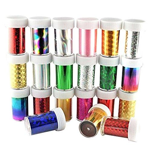 Contever® 30/Set Nagelfolien DIY Nagel Tips Sticker Nail Art Foils Transfer Sticker Glitzer - Art Jack Halloween Nail