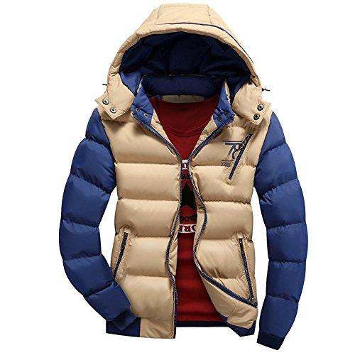 Buggy Herren Baumwolle Mantel winter Daunendecken und Baumwolle Bekleidung Männer warm kurz von Sau,Khaki,XXL (Diesel Herren Thong)