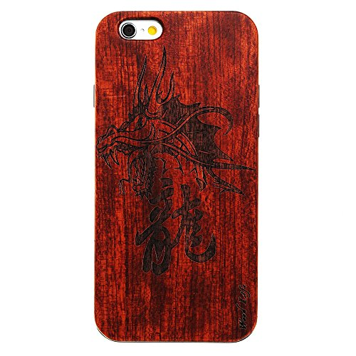 per iPhone 7 Custodia, Forepin® Reale Handmade Legno Retro Custodia Cover Protettivo Skin Caso Hard PC Bumper Case per iPhone 7 - Colore 12 Colore 14