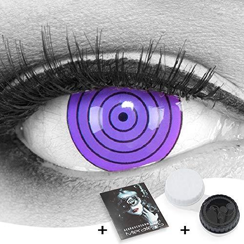 Naruto Kontaktlinsen - Funnylens 1 Paar farbige 17mm Crazy