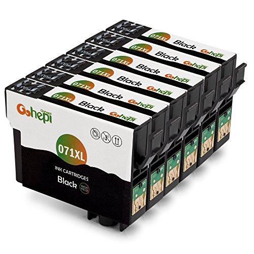 Gohepi (6 Nero) Compatibile Cartucce Epson T0711 Epson Stylus SX110 SX218 SX210 SX415 SX200 SX400 SX205 SX410 SX100,Epson Stylus DX4400 DX8400 DX7400 D92 D120 D78,Epson Stylus Office BX300F BX610FW