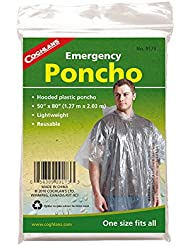 Coghlans Emergency Survival Poncho - Transparent