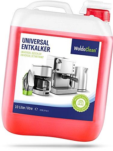 Detergente anticalcare per macchina da caffè automatica, tanica da 10 litri, con indicatore di colore, riutilizzabile.
