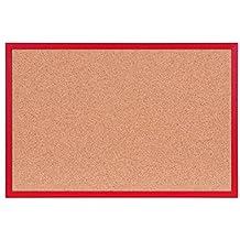 Pinnwand Ca. 40 X 60 Cm Mit Farbigem Holzrahmen (rot)