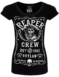 Sons of Anarchy T-Shirt Reaper Crew Femme Noir