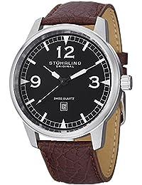 Stuhrling Original 1129Q.01 - Reloj de cuarzo de caballero, color marrón