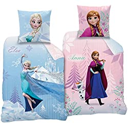 "'CTI Reversible Juego de ropa de cama Disney' s Frozen 135x 200cm + 80x 80cm, linón 2diseños ""Diamonds CTI"
