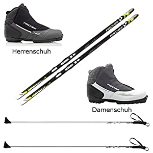 Fischer Langlaufski-Set Orbiter NIS + Bindung + Stöcke + Schuhe Cruiser Cruising