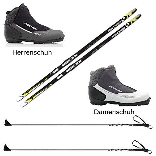 Langlaufski-Set Fischer Orbiter NIS + Bindung + Stöcke + Schuhe Cruiser Cruising (XL = 189 cm für über 95 kg)
