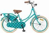 20 Zoll Popal Omafiets OM20 Mädchen Holland Fahrrad, Farbe:blau