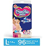MamyPoko Pants Extra Absorb Diapers Monthly Pack, Large (Pack of 96)