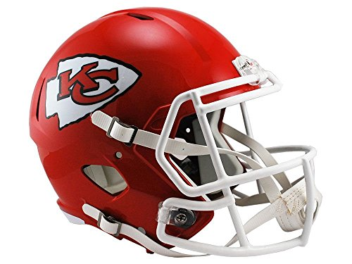 NFL FULL SIZE CASCO/HELMET FOOTBALL SPEED REPLICA KANSAS CITY CHIEFS