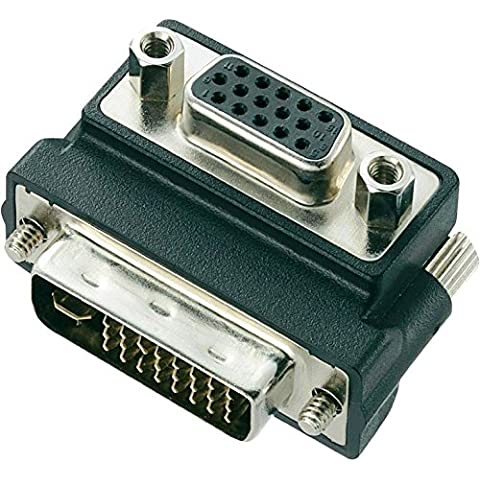 Dual Link VGA Female To DVI 24+5 Male 15pin Angle 90¡ã HD Adapter Converter