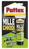 Pattex Mille Chiodi Removibile adesivo di montaggio, Colla rimovibile anche a distanza di tempo, Adesivo removibile multiuso e multimateriale, blister 1 x 100g