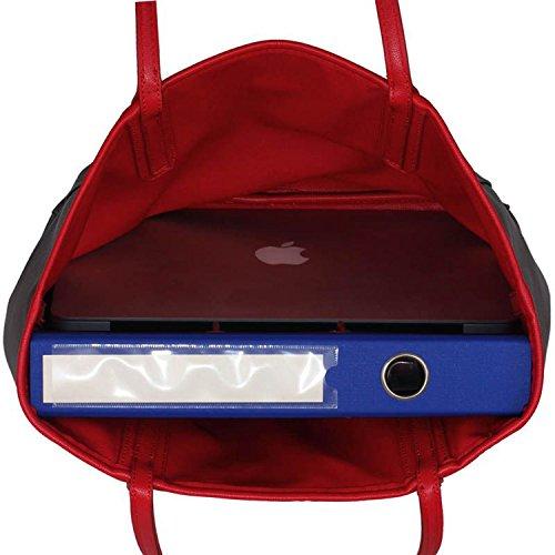 xardi London reversibile 2in 1grande donna borsa maternità in finta pelle Donna Borsa a tracolla Grey/Red