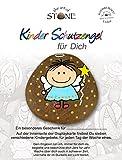 Kinder-Schutzengel für Dich - Serie 4 - Motiv 03 - mit 7 Kindergebeten auf der Rückseite der Karte - Handbemalter - Naturstein - Unikat